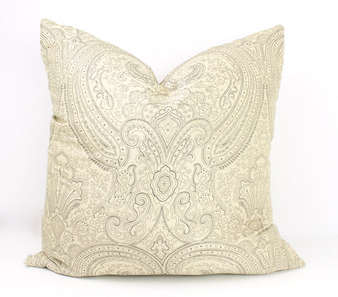 Sketch Silk Paisley - Ivory/Pewter