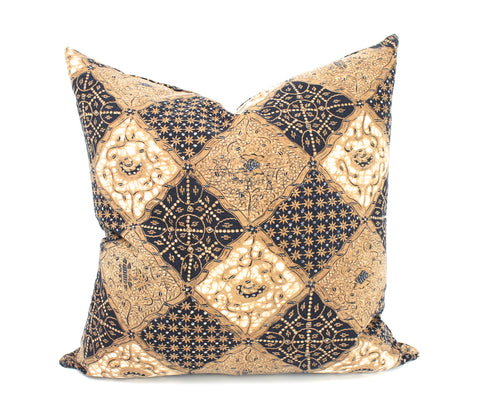 antique batik indigo pillow