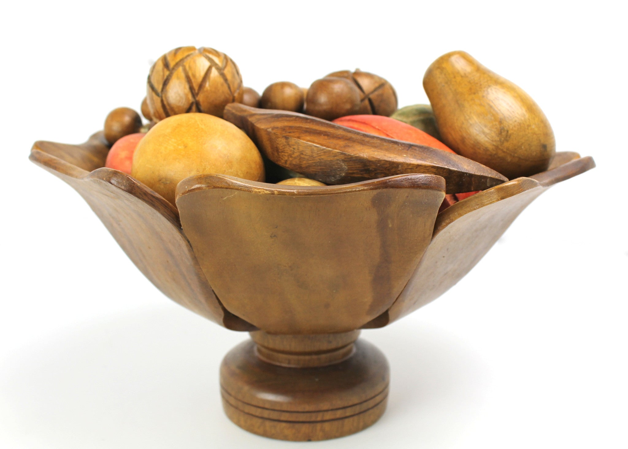 Mid-Century Monkey Wood Fruit Bowl