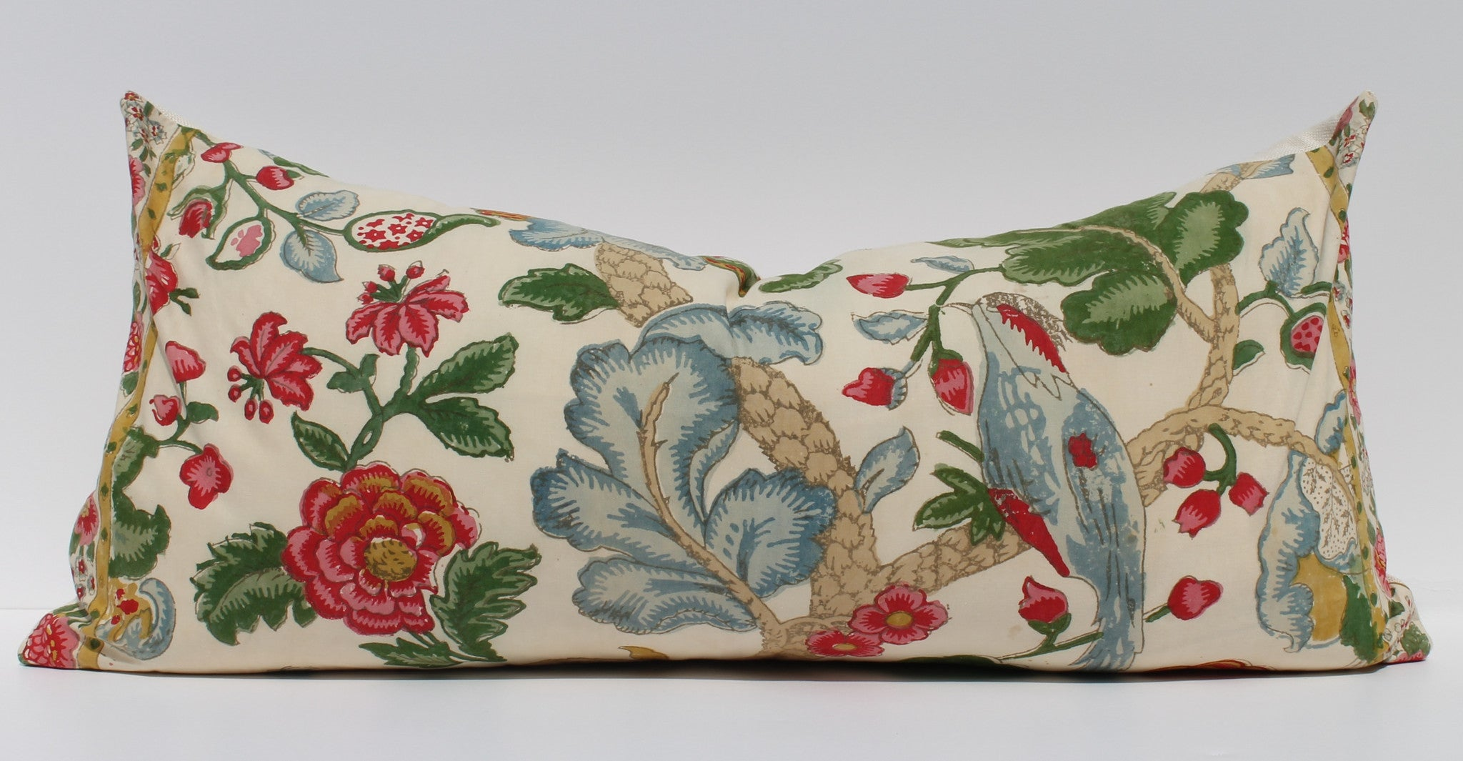 Block print floral pillow India