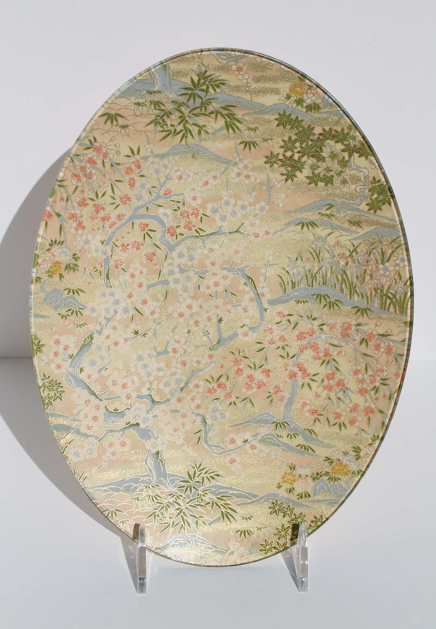 Peach Garden Tray/Oval