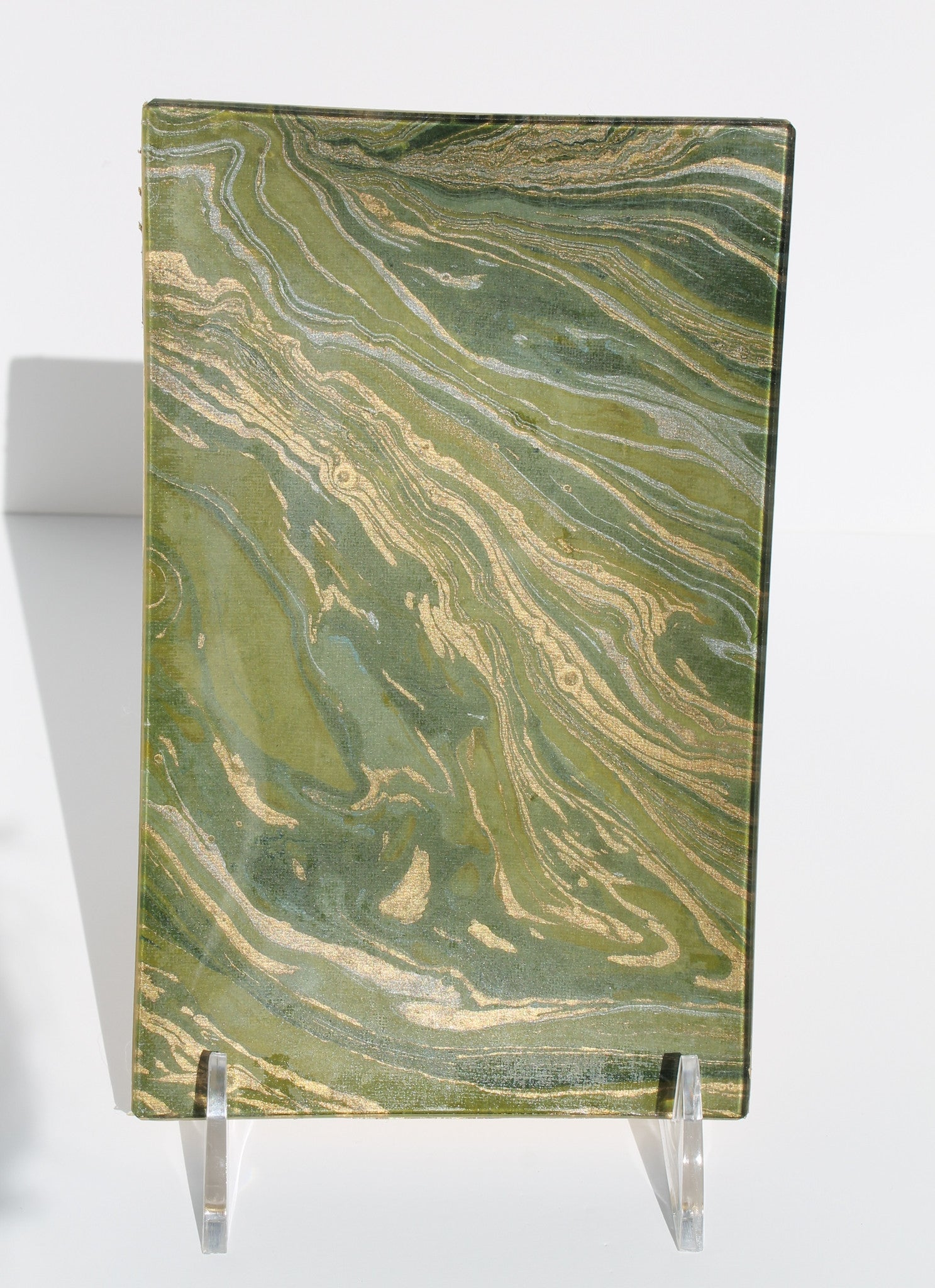 Olive Florentine Marbled Tray - Rectangle