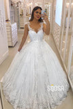 Ball Gown Double Straps Lace Wedding Dress Bridal Gown QW2274|SQOSA