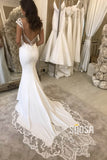 Mermaid/Trumpet Wedding Dress Cap Sleeves Bohemian Wedding Gowns QW2279|SQOSA