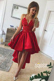 A-line Chic Appliques High Low Homecoming Dress QS2234|SQOSA