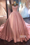 Ball Gown Sweetheart Appliques Pink Prom Dress Formal Evening Dress QP2589|SQOSA