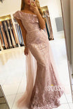 Mermaid/Trumpet Evening Dress Unique One Shoulder Lace Beaded Long Forma Dress QP2326|SQOSA