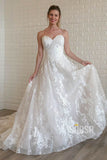 A-line Sweetheart Lace Wedding Dress Rustic Wedding Gown QW2120|SQOSA