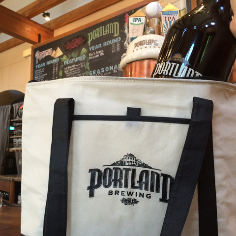 Insulated Growler Tote Bag