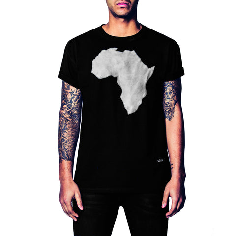 Africa Suede Leather T-Shirt