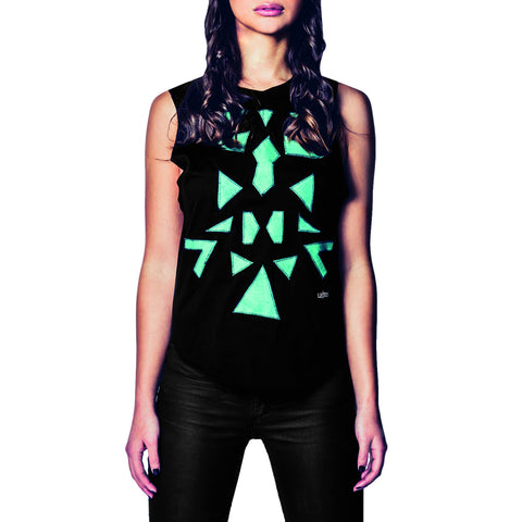 Pyramids Leather Top