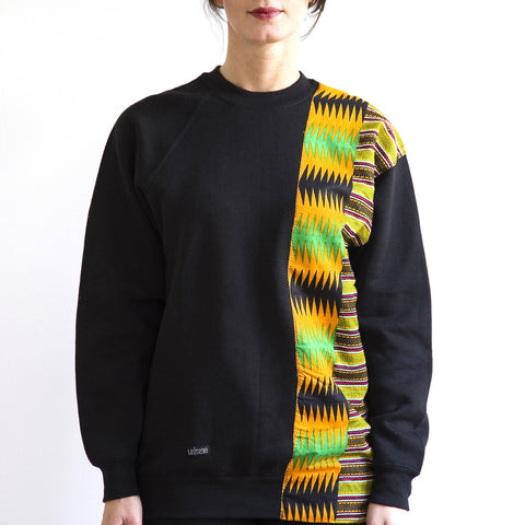 Kente One Shoulder Sweater Limited Edition