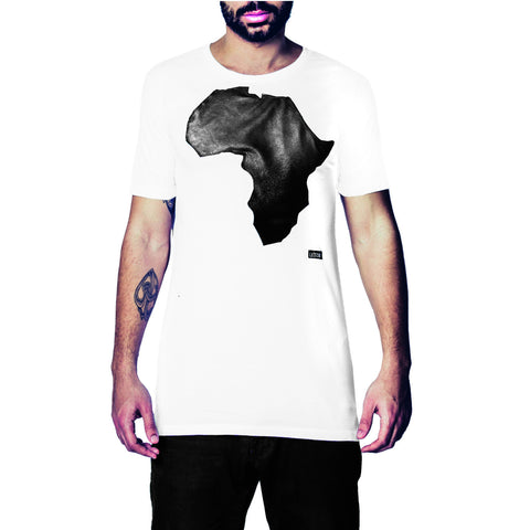 Africa All black faux Leather T-Shirt