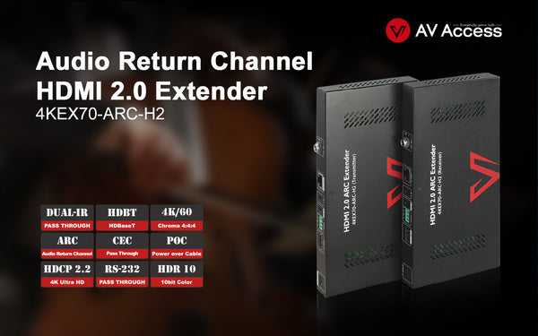 AV Access Introduces a 4K HDMI Extender with ARC Function for Simplified Home Theater Setup