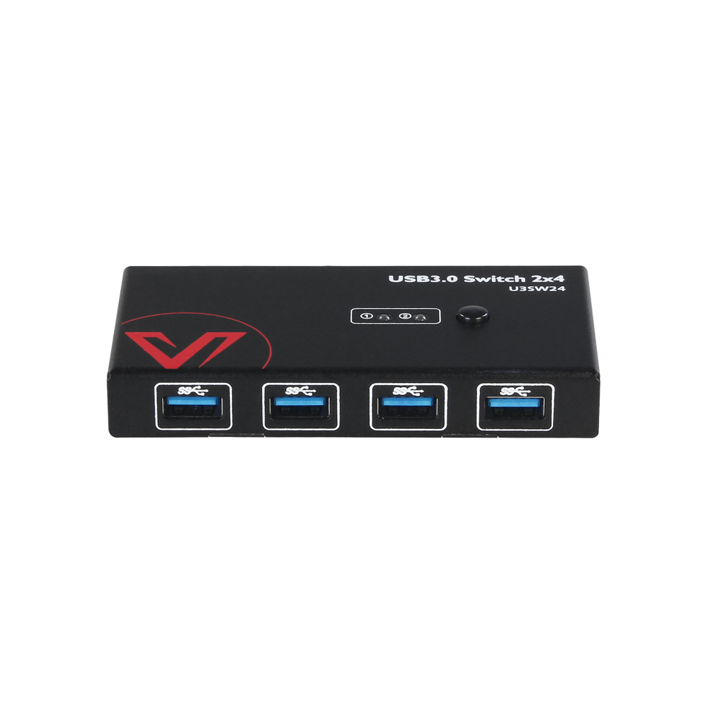 Work From Home- USB 3.0 Switch, 2x PC Sharing 4x USB Port, Supports All Systems (Available in USA Only)