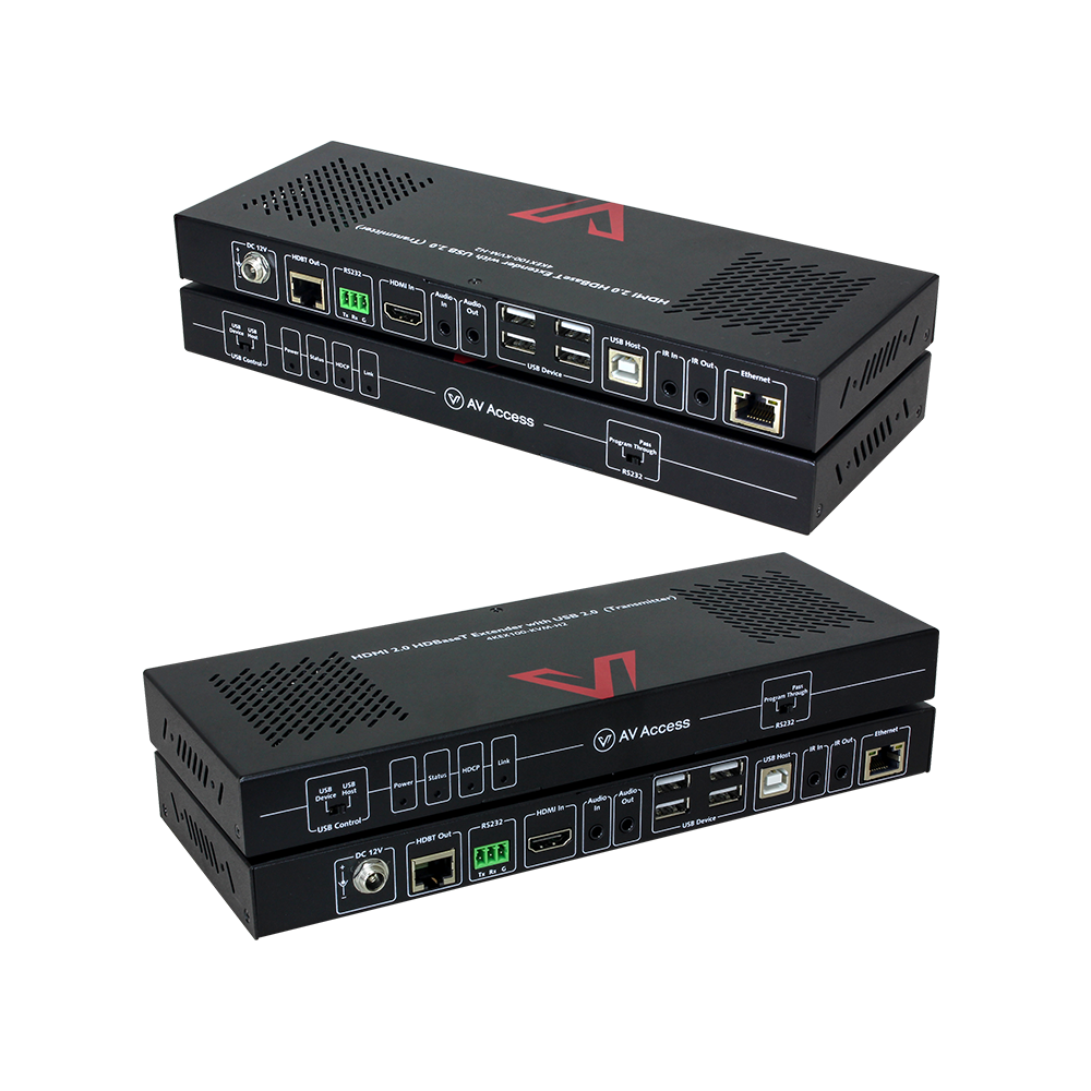 4K HDMI 2.0 KVM Extender with Ethernet Relay, Uncompressed and No Latency, Plug and Play