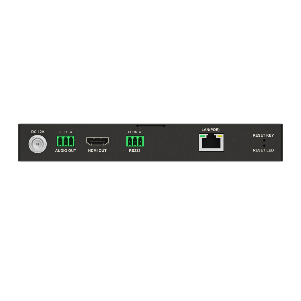 Zero Configuration H.265 IP Video Decoder with PoE,Video Wall and Visual Control