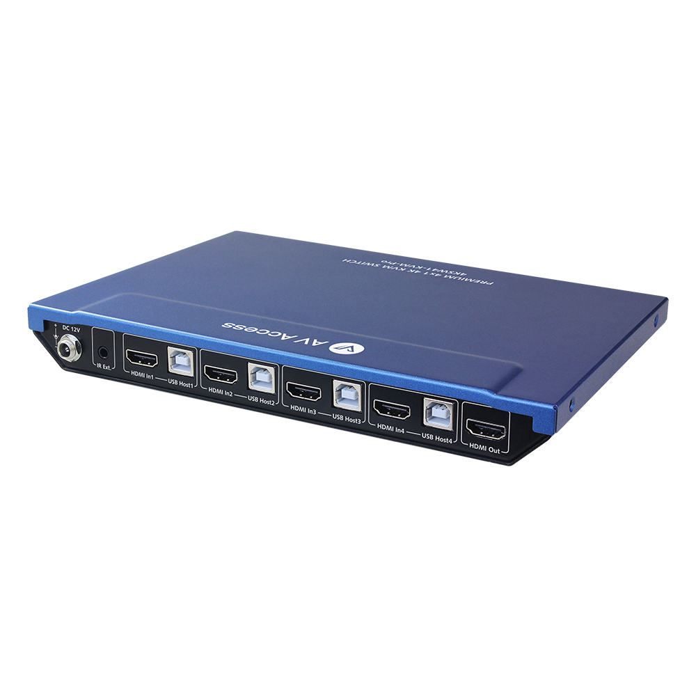 Upgraded 4x1 4K KVM Switch with Hotkey Switching, Sharing 3x USB Port, Works with 4x PC, Supports 120hz & 144hz, Ideal for Home office or Gaming