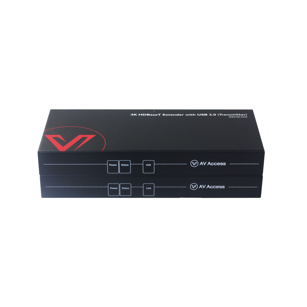 Uncompressed 4K HDMI KVM Extender 100m, 4x USB 2.0 Ports, PoE &RS232, No Latency