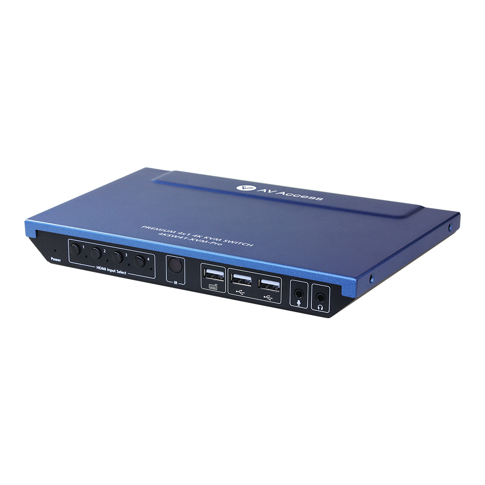 Upgraded 4x1 4K KVM Switch with Hotkey Switching, Sharing 3x USB Port with 4x PC, Ideal for Home office or Gaming