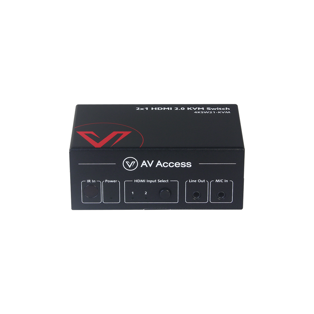 4K KVM Switch Sharing 3x USB 2.0 Ports Work with 2x PC, Ideal for Home office or Gaming