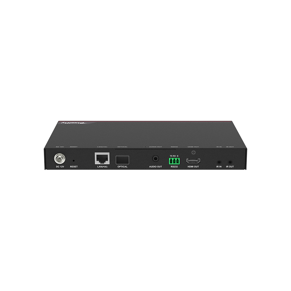 High-End 4K IP Decoder w/ Fiber, Low Latency, Limitless & Scalable for Matrix/Video Wall