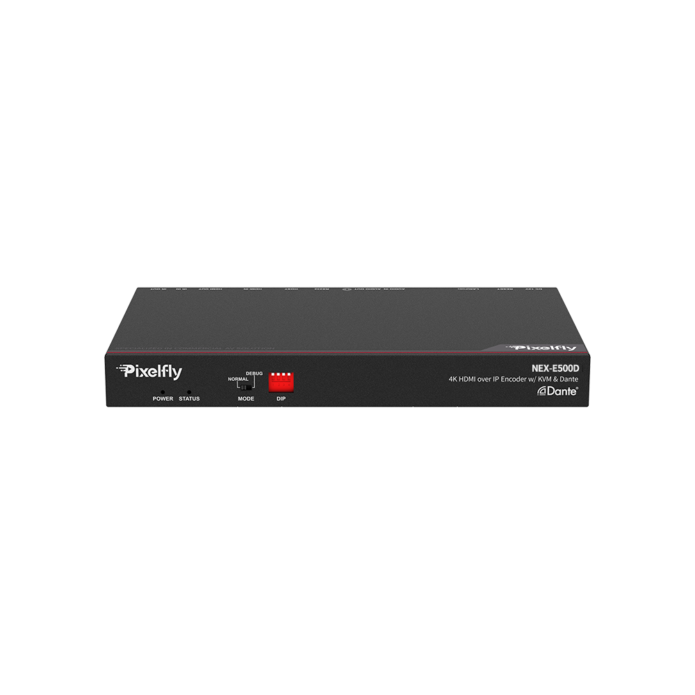 High-End 4K IP Encoder w/ Dante, Low Latency, Limitless & Scalable for Matrix/Video Wall