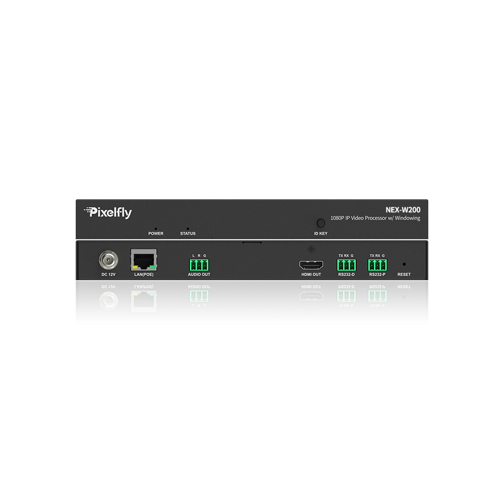 Unique 1080P Video Processor w/ Windowing, Works with H.264 IP Decoders, PoE Powered