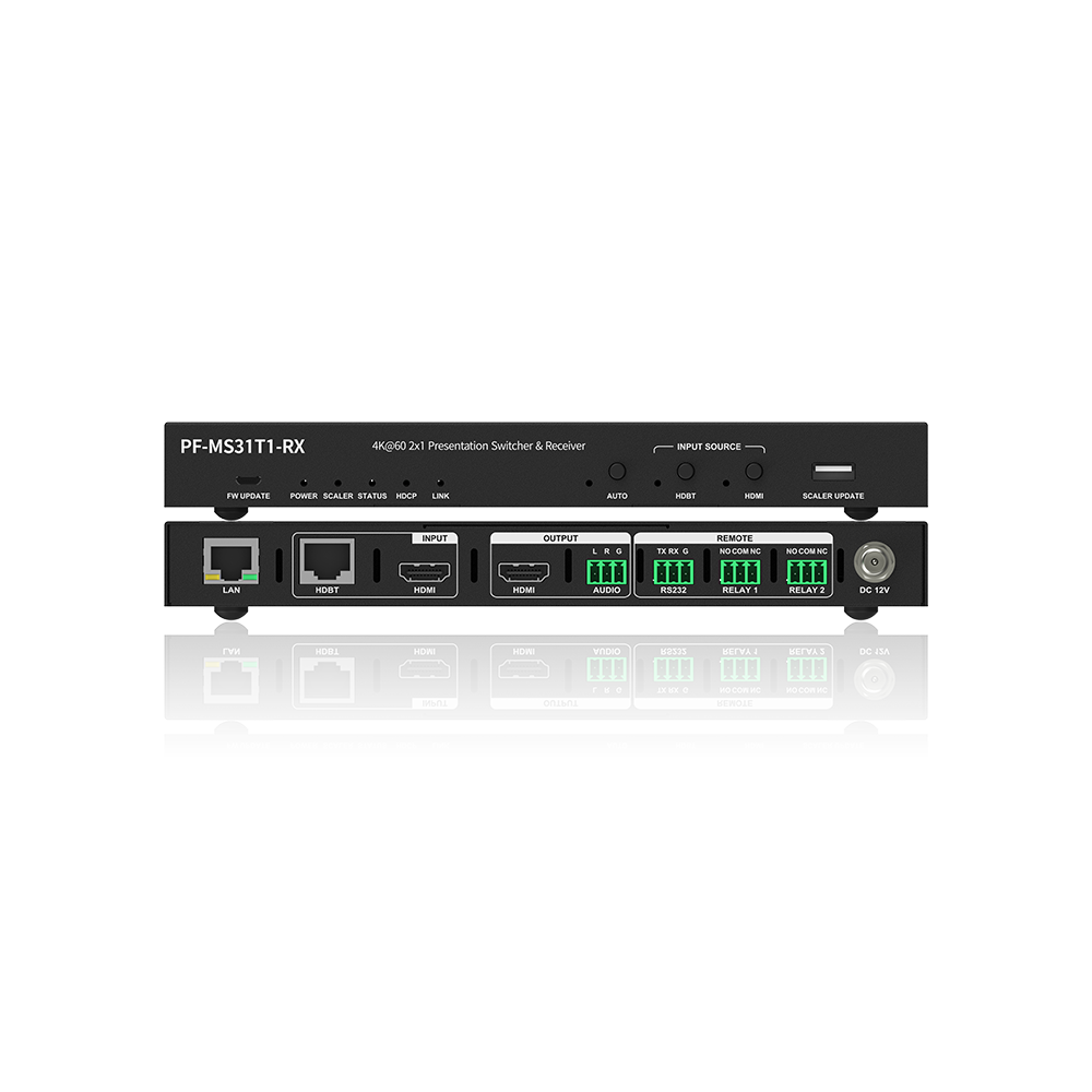 Advanced 4K Presentation Switching Receiver w/ HDBT Input, up to 70m Transmission Distance