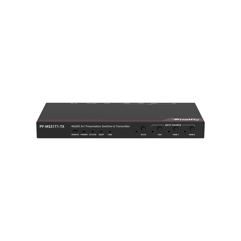 Advanced 4K Presentation Switching Transmitter w/ HDBT Output, up to 70m Transmission Distance