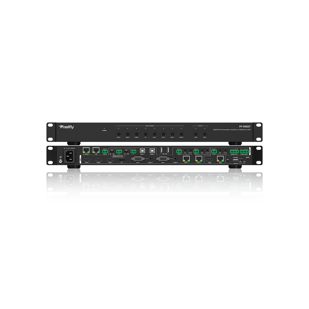 Advanced All-in-One 8x2 4K Presentation Matrix Switcher, Auto Switching, Multiple Control Options