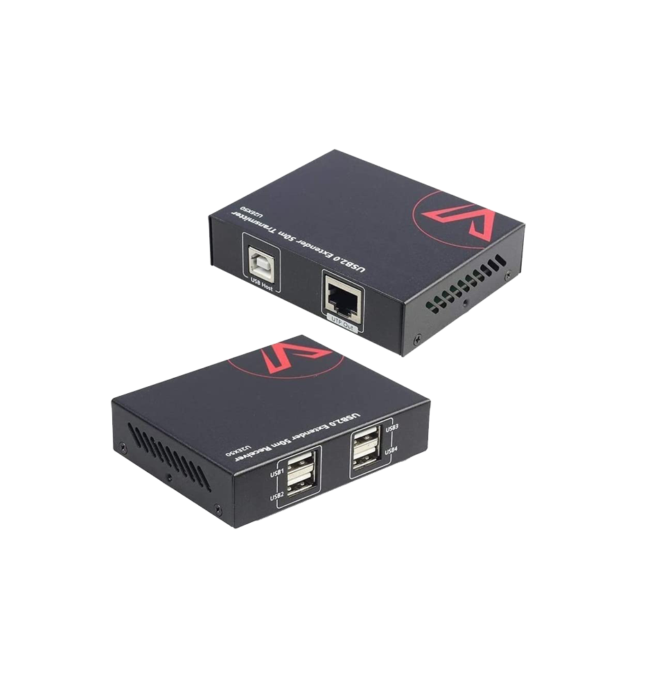 USB Extender 60m/196ft , 4x USB2.0 Port, Plug & Play, Supports All Operating Systems