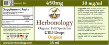 Load image into Gallery viewer, Full Spectrum CBD Original Tincture - 15ml - 450mg