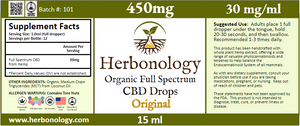 Full Spectrum CBD Original Tincture - 15ml - 450mg