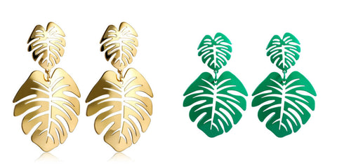 acrylic-monstera-leaf-earrings-Monstera leaf earrings-laser-cut-earrings-acrylic-monstera-earrings-acrylic-earrings-resin-earrings-acetate-earrings-Hammered-Earrings