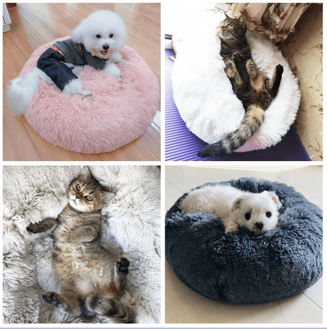 plush-faux-fur-pet-bed-small-faux-fur-pet-bed-pet bed-for-anxiety