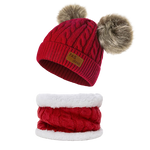 Baby-Unisex-Boy-Girl-Cable-Knit-Chunky-Pom-Fleece-Lining-Beanie-Hat