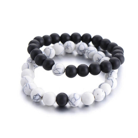 Couples-Distance-Bracelet-Classic-Natural-Stone-White-and-Black-Yin-Yang-Beaded-Bracelets