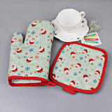 Cool Christmas Oven Baking Glove and Pad
