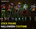Led Stick Figure Costume For Halloween Christmas Party DIY Decoration