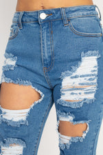 Load image into Gallery viewer, Get Ripped Straight Leg Jeans