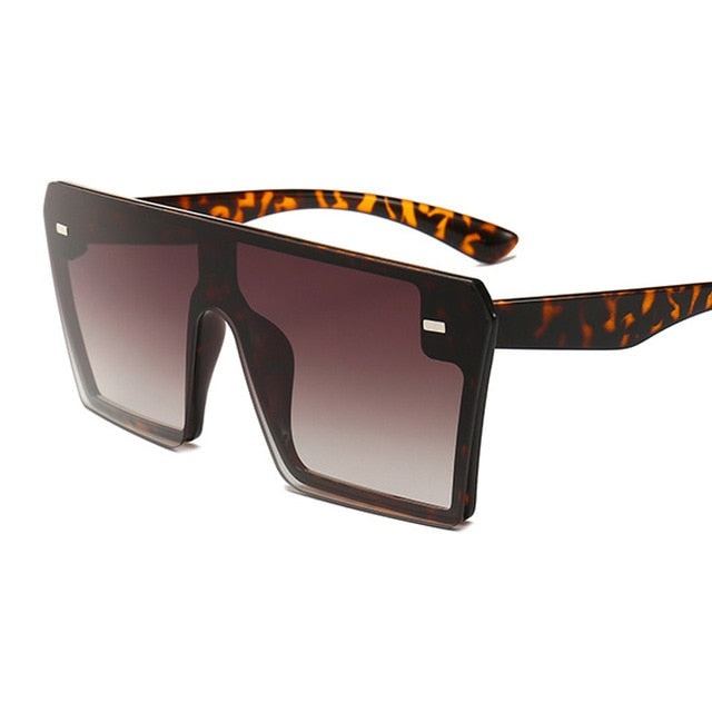 Flat Top Oversized Squared Sunglasses