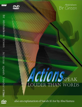 Actions Speak Louder Than Words DVD by Abdur Raheem Green