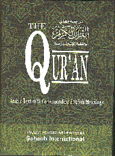 The Quran Arabic Text With Corresponding English Meanings Large H/B by Saheeh International