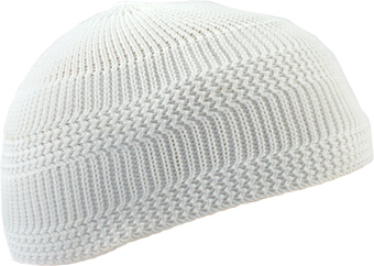 Knitted Scull Caps White