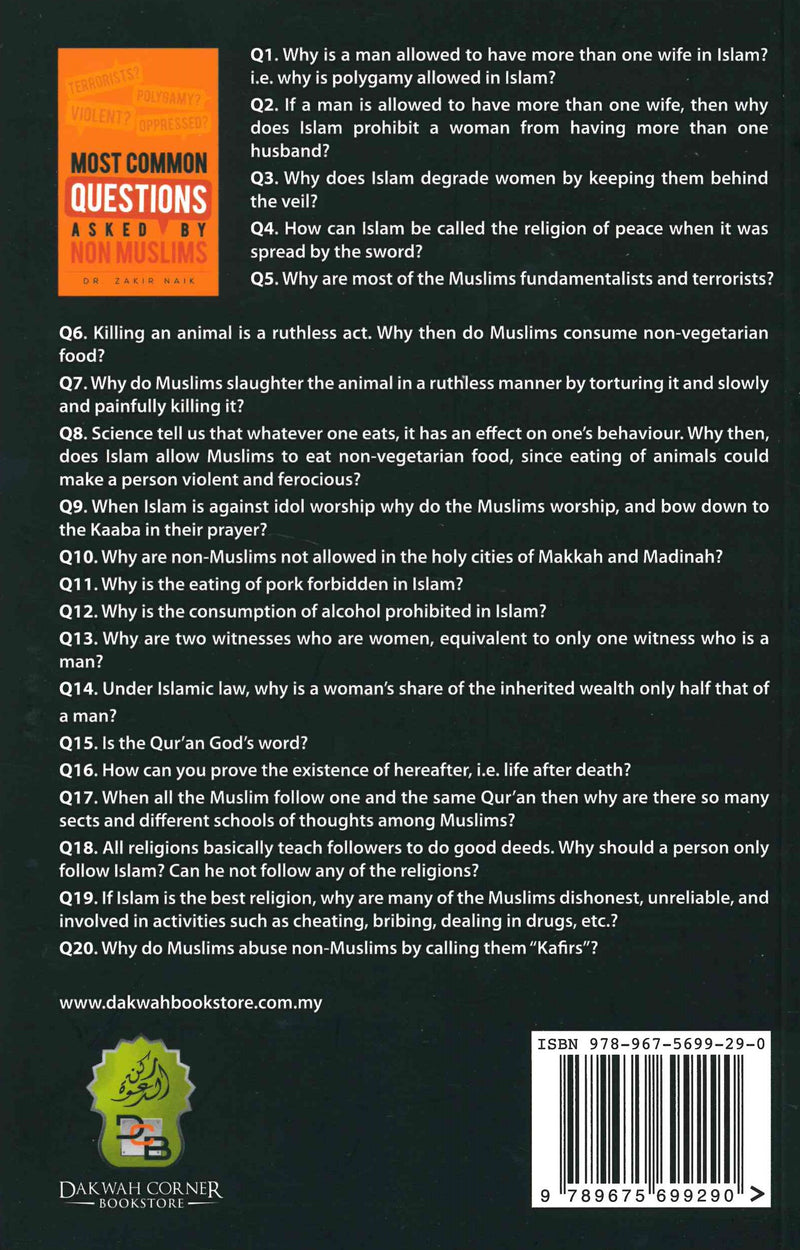 Most Common Questions Asked By Non-Muslims by Dr. Zakir Naik