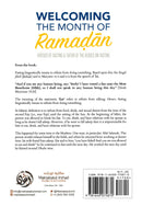 Welcoming the Month of Ramadan Virtues of Fasting & Tafsir of the Verses on Fasting by Shaikh Ahmad Bin Yahya An-Najmi