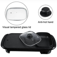 Load image into Gallery viewer, 2 IN 1 ELECTRIC HOTPOT GRILL (W/ HOTPOT DIVIDER)