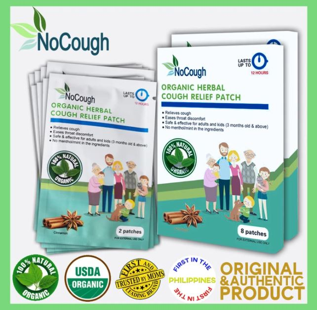 NOCOUGH ORGANIC PATCH (8 PATCHES PER BOX)