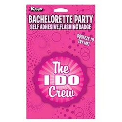 Bachelorette Party The I Do Crew Self Adhesive Flashing Badge